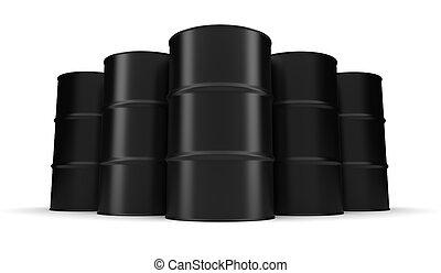 negro, industrial, barril