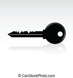 negro, llave, ilustración