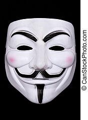 negro, máscara, aislado, anónimo