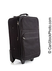 negro, maleta, o, equipaje