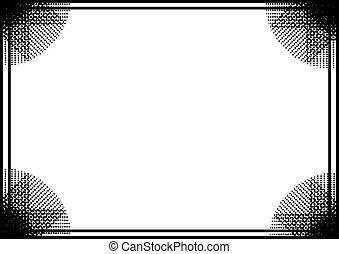 negro, marco, plano de fondo