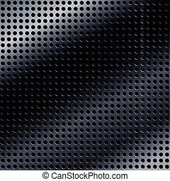 negro, metálico, plano de fondo