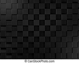 negro, metal, plano de fondo