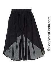 negro, mujeres, falda