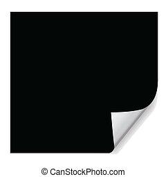 negro, papel