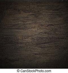 negro, pared, textura de madera