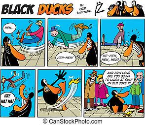 negro, patos, cómicos, episode, 6