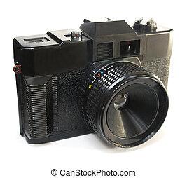 negro, plástico, primitivo, cámara
