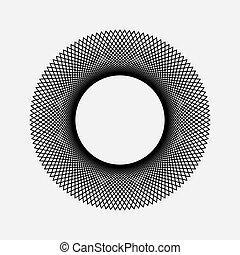 negro, resumen, fractal, forma