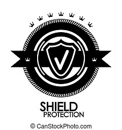 negro, retro, vendimia, etiqueta, |, etiqueta, |, insignia, |, protección, estampilla