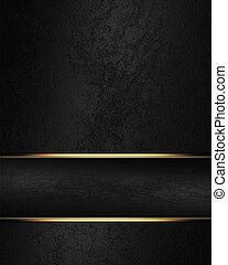 negro, rico, textura, con, negro, cinta, y, oro, borde