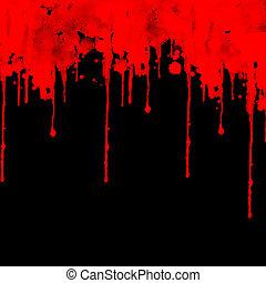 negro, sangre, salpicar