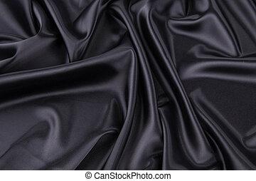 negro, seda, drapery.