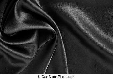negro, seda, raso, o, plano de fondo