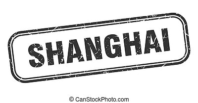 negro, shanghai, aislado, grunge, señal, stamp.