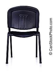 negro, silla de la oficina, aislado, blanco