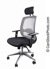 negro, silla de la oficina, eslabón giratorio
