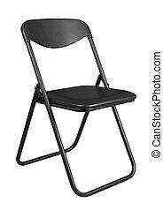 negro, silla, plegadizo