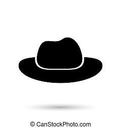 negro, sombrero, vaquero