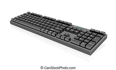 negro, teclado