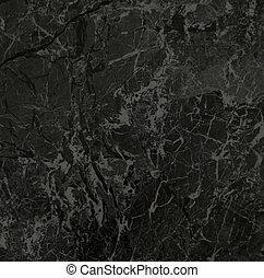 negro, textura, mármol