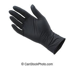 negro, vacío, guante, protector, nitrile