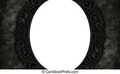 negro, vendimia, marco, con, espacio blanco, para, texto