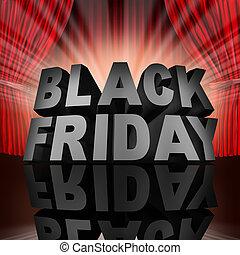 negro, viernes, acontecimiento