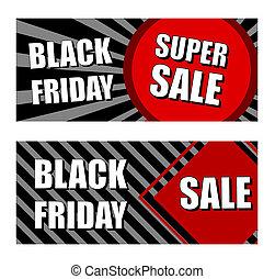 negro, viernes, súper, venta, comercio, banderas