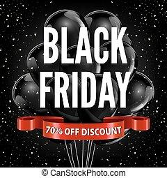 negro, viernes, venta, descuento, promo, globos, cinta roja,...