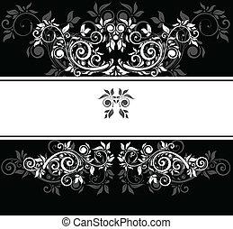 negro y blanco, boda, plantilla