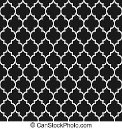 negro y blanco, islámico, seamless, patrón