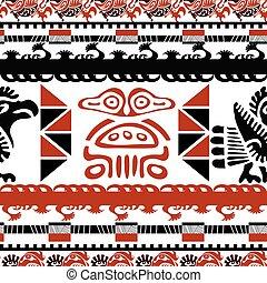 negro y rojo, seamless, patrón