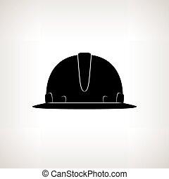 nehéz, árnykép, kalap