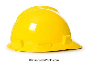 nehéz kalap, elszigetelt, képben látható, a, white háttér