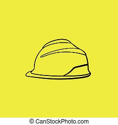 nehéz, sárga, vektor, biztonság, háttér, Kalap