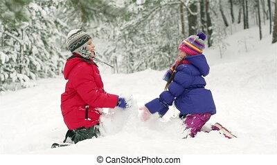 neige, agitation