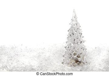 neige, arbre noël