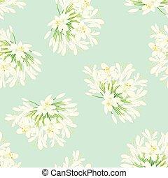 neige, arrière-plan., agapanthus, blanc vert, menthe