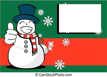 neige, background10, dessin animé, homme, noël