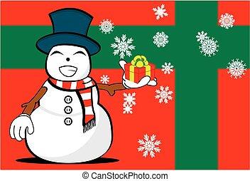 neige, background11, homme, dessin animé, noël
