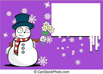 neige, background4, dessin animé, homme, noël