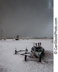 neige, bateau