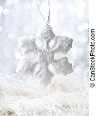 neige blanche, flocon