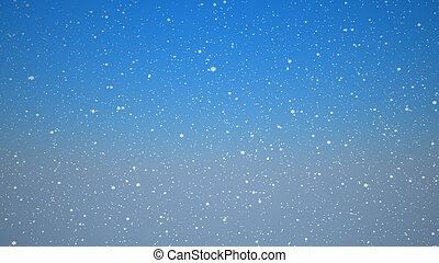 neige, bleu, ciel