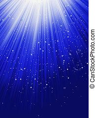 neige bleue, eps, étoiles, 8, tomber, rays.