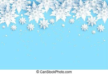 neige bleue, fond