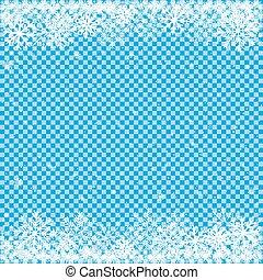 neige bleue, fond, transparent