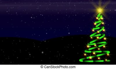 neige, boucle, tannenbaum
