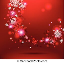neige, fond, rouges